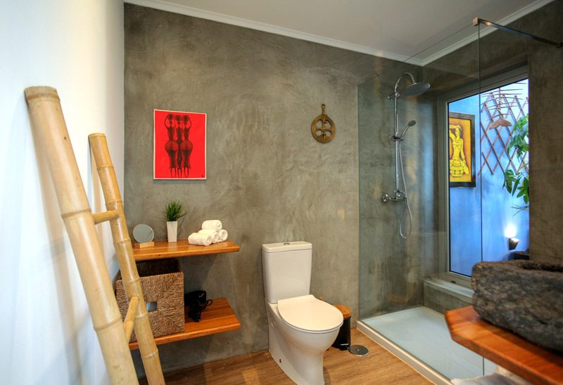 Eclectic design bathroom Villa Sal One