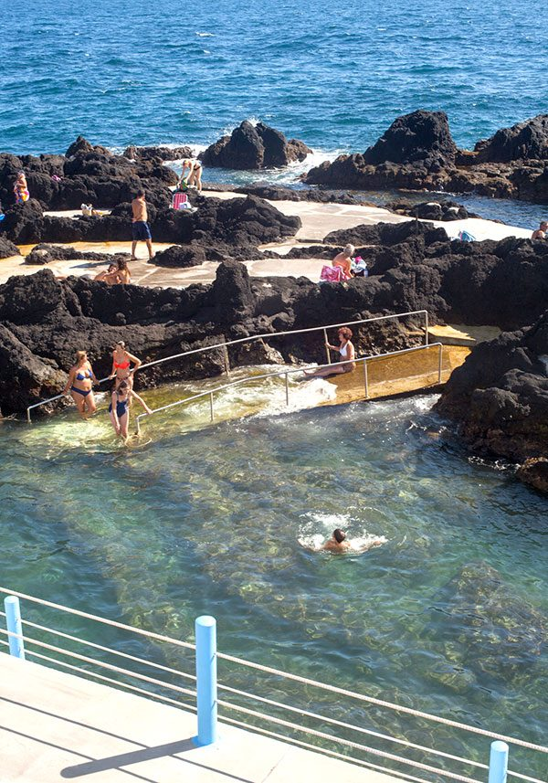 Public natural pools right next Villa Sal
